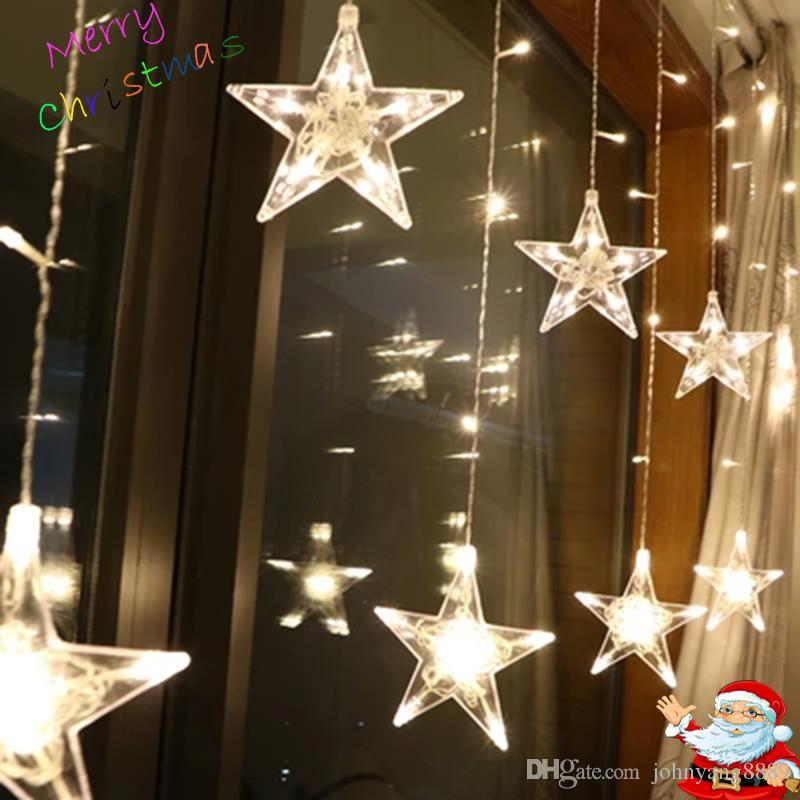 Led Luces De Hadas De Navidad Cadena Exterior Ac220v Enchufe De La Ue Guirnalda Decoraciones De La Lámpara Para La Fiesta En Casa Jardín Boda