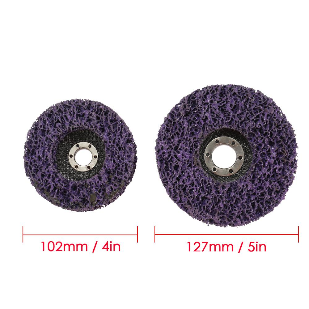 2PCS Grit Wood Metal Paint Rust Removal Clean Tools For Angle Grinder Wheel Abrasive Disc