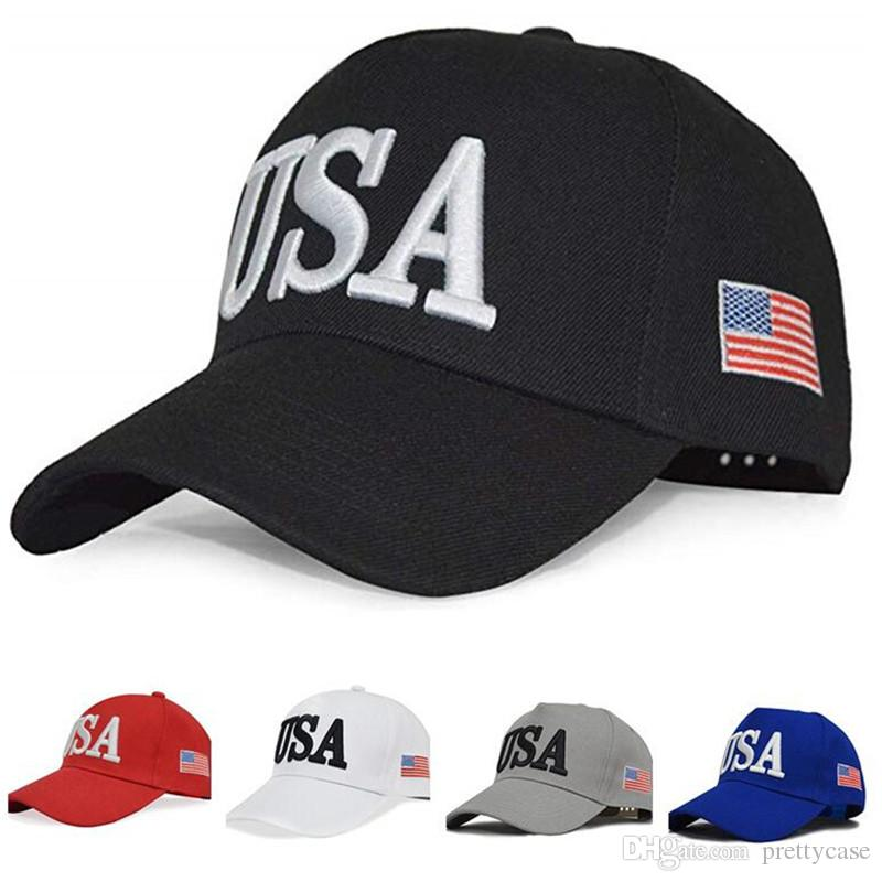 34923115fae Embroidered USA Dad Hat Cotton Baseball Cap Polo Style Adjustable Trump  Support Baseball Caps With American Flag Leather Hats The Game Hats From  Prettycase