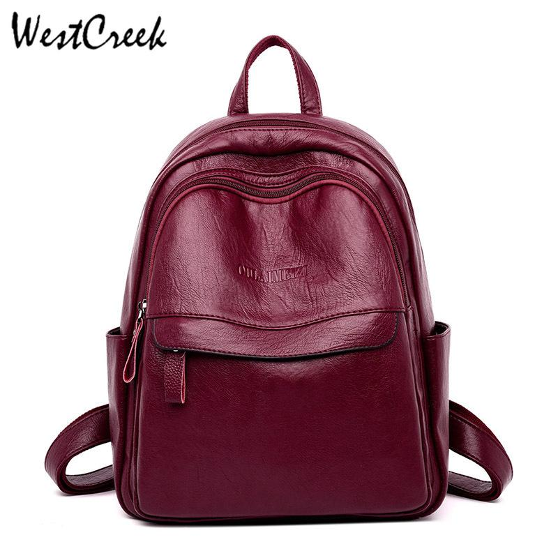2d1e5c46783 WESTCREEK Designer PU Leather Small Backpack Women College Bag for Girls  Laptop Travel Daypack Backpacks Purse