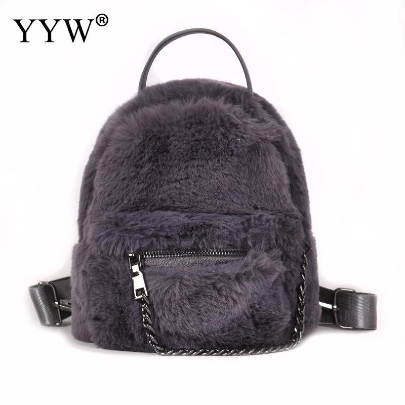 Yyw 2018 Winter Mochila Feminina Cute Plush Backpack Female Shoulder Bag  Girl Women Mini Soft Day Backpack Hairy Hand Bag Woman Backpack Brands  Rucksack ... f2a3ee895b