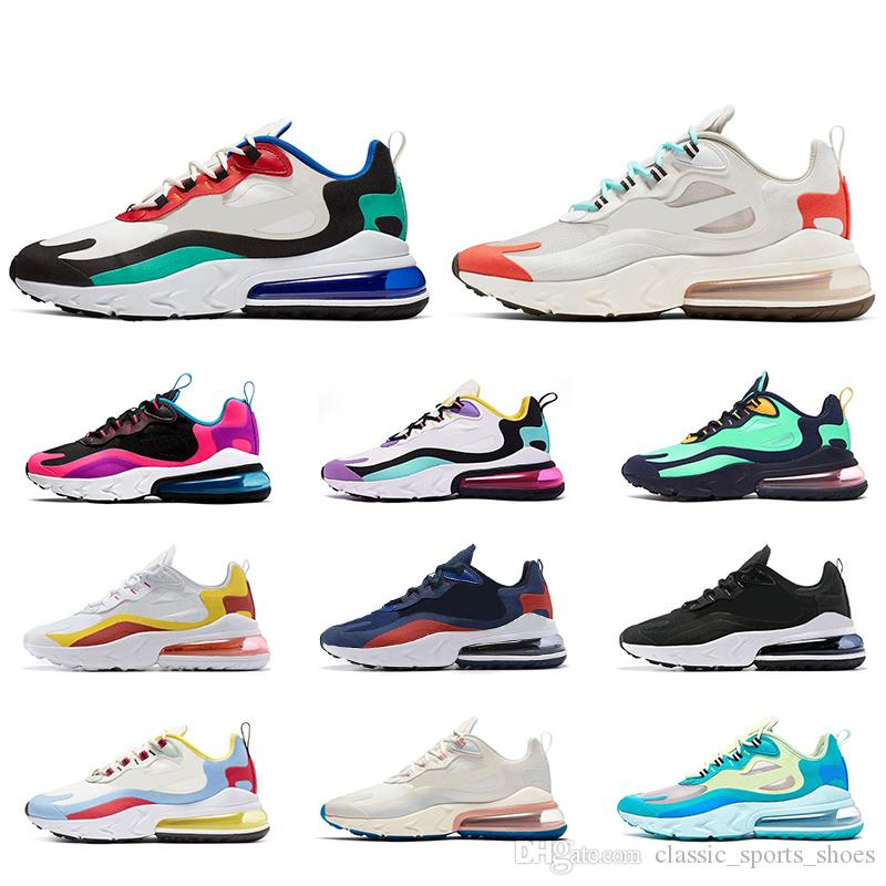 C.M Nike Wmns Air Max 270 React AT6174 100 白粉 Yahoo奇摩