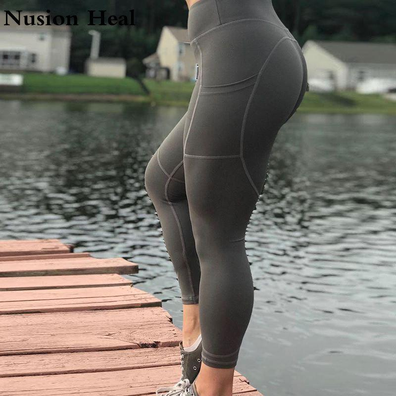 c71698c250d8b 2019 Drop Women Yoga Pants Running Tight Compression Gym Jogging Pants Lulu Workout  Gym Leggings Sport Running Pants Fitness Trousers C19040301 From ...