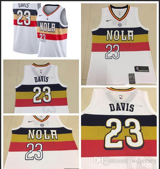 more photos a5aac d8b0b Men New Orleans New Season Pelicans Jersey Anthony Davis Reward Edition  Baketball Jerseys - White