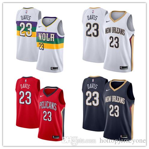 outlet store cdca6 a9f97 18-19 Season New Orleans Men Pelicans Swingman Jersey Anthony Davis City  New Edition White Jersey