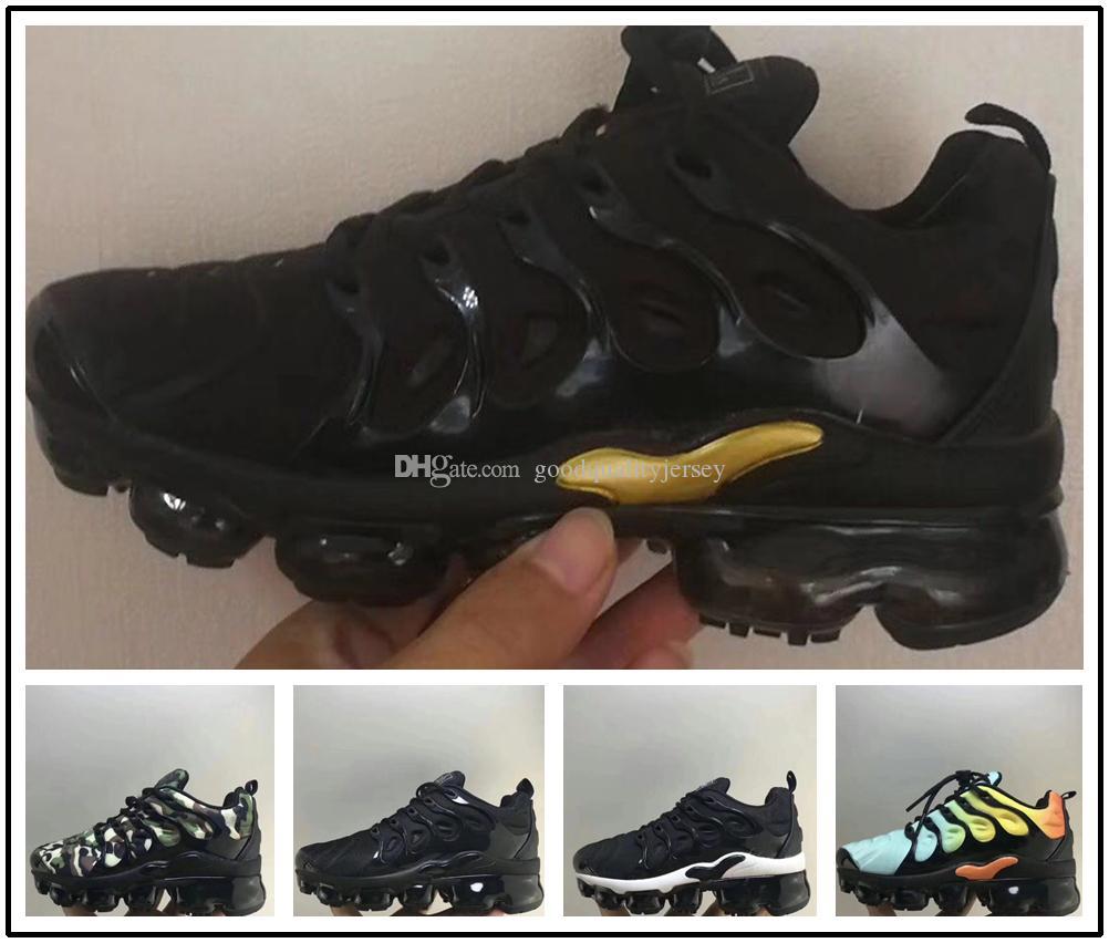 nike TN plus air max airmax 2018 Chaussures Enfants Chaussures De Course Tn Plus Chaussures Bébé Garçons Filles Camo Noir Blanc Baskets De Sport Run