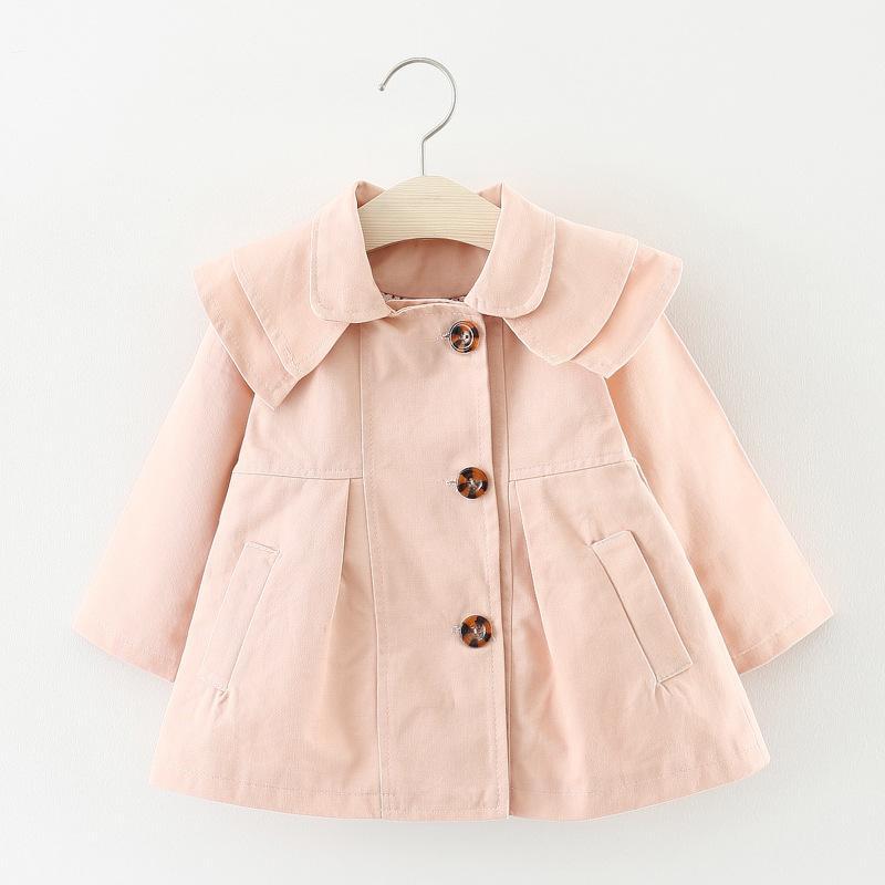 5b77484e2 Spring Toddler Girls Jackets Buttons Cotton Kids Coats Fashion ...