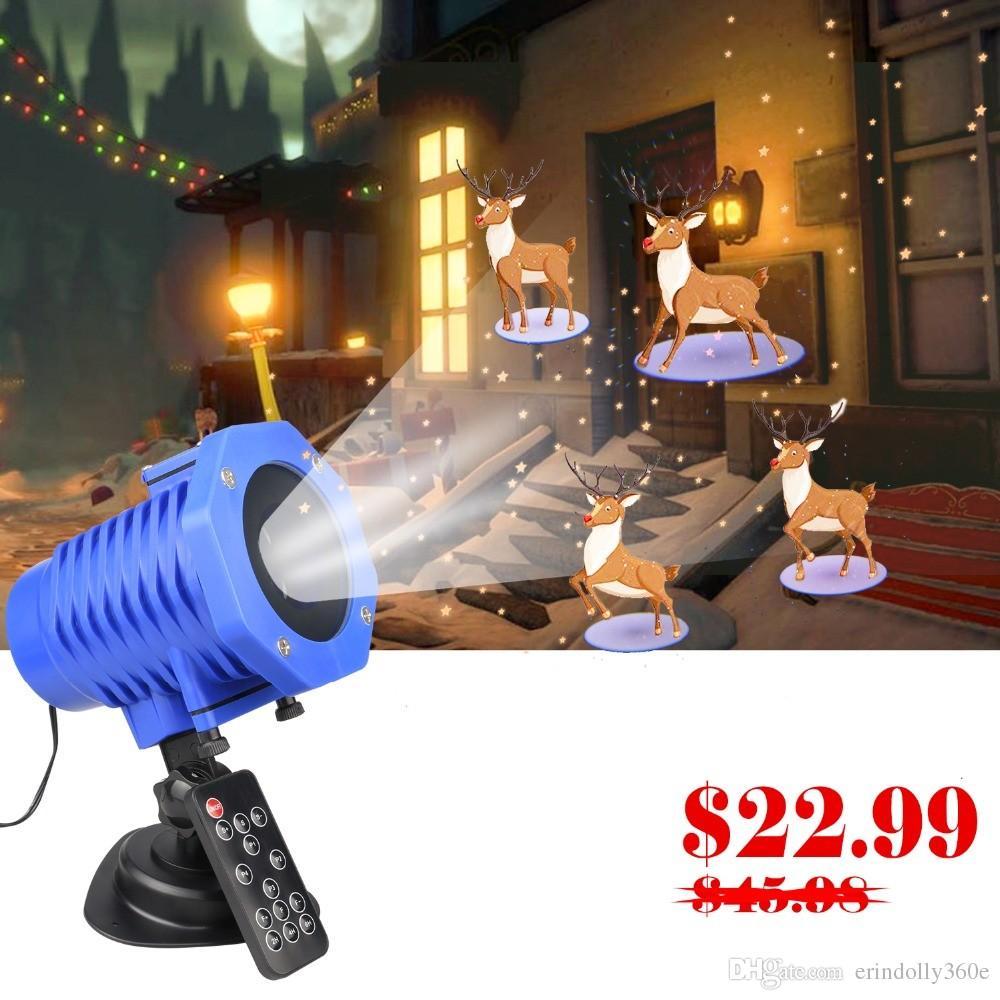 5f4b99b2fe5 Compre 12 Temas LED De Navidad Proyector Láser IP65 Jardín Exterior  Proyector Láser Proyector Disco Navidad Año Nuevo Luces Control Remoto A   27.73 Del ...