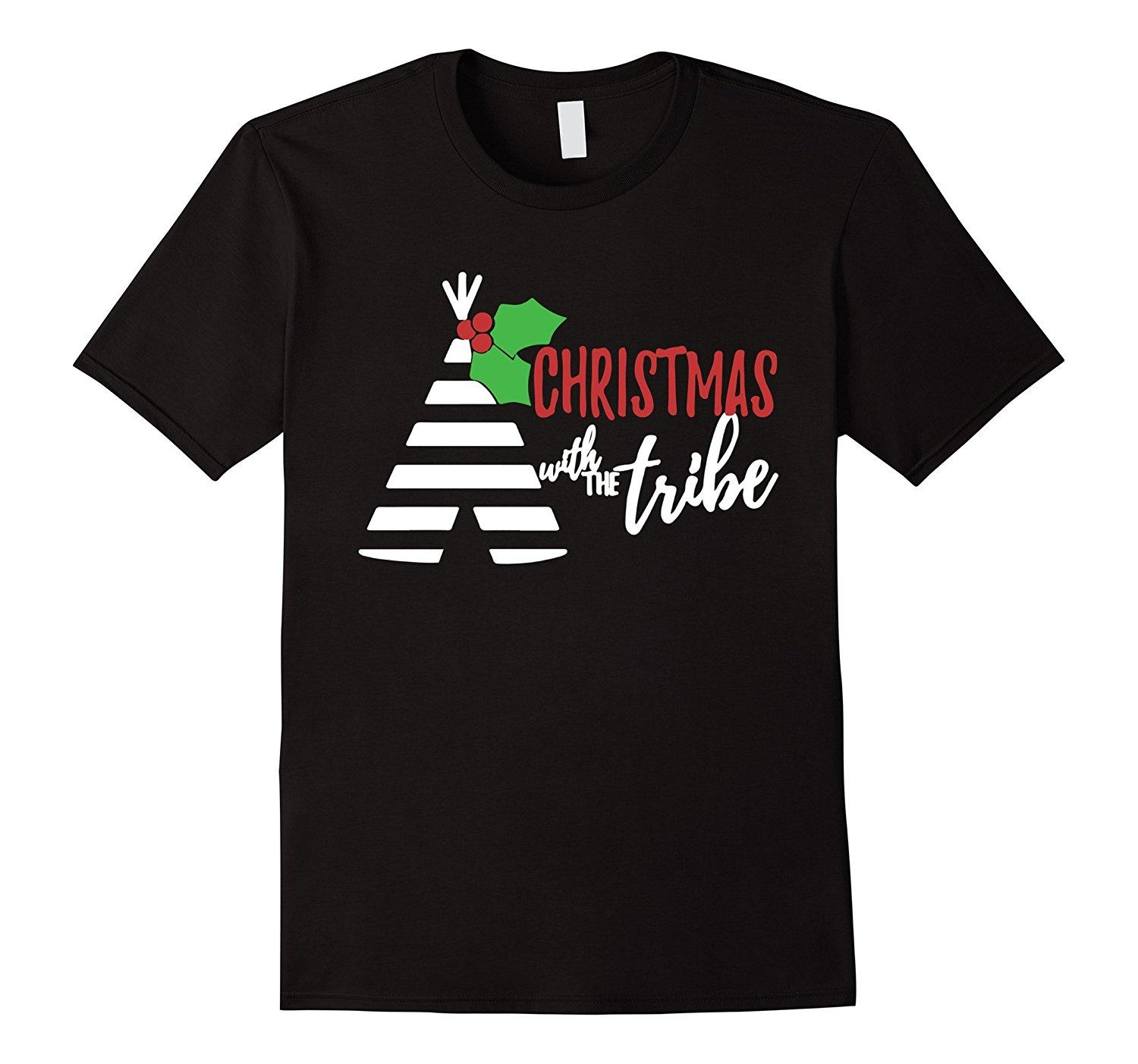 Family Christmas Shirts.Matching Family Christmas Shirts Christmas Tribe T Shirt Men Casual Short Sleeve T Shirts Wholesale Discount Colours High Quality 100