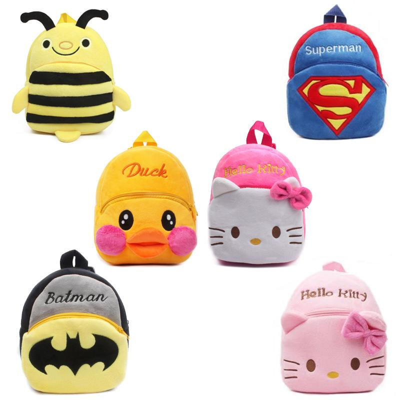 Baby School Bags Childrens Gift Cute Kindergarten Boy Girl Plush Cartoon Backpack Schoolbag For Kids Teenagers Soft Lovely Bags A Wide Selection Of Colours And Designs Kids & Baby's Bags School Bags