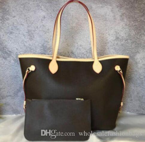 c1f838d060 Acquista 2019 NEVERFULLES Brand New Donne Di Alta Qualità Vera Pelle  Ossidante 32 Cm 40 Cm Grande Shopping Bag Borsa A Tracolla Tote Bag CON  TASCHINO A ...