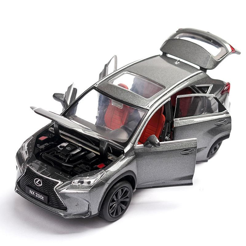 3 Styles Car Model 1:32 Lexus Nx200t Alloy Car Toys For Children Metal Diecasts Vehicle Kids Toys Pull Back Sound Light J190525