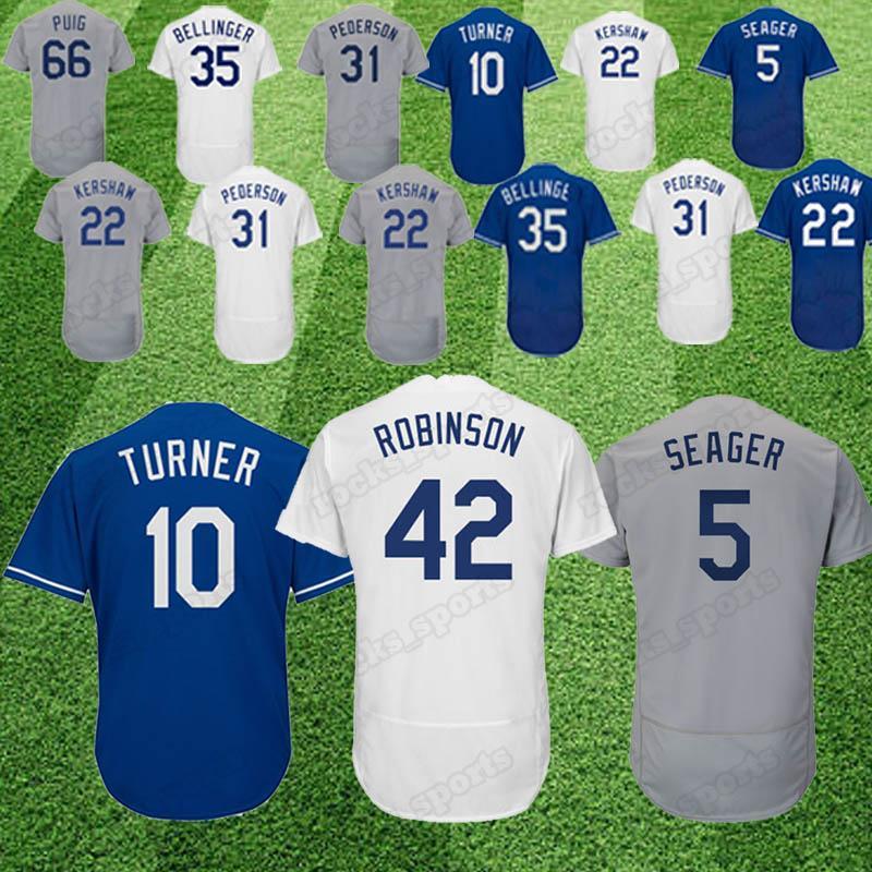 2019 Embroider Los Angeles Dodgers Jersey 22 Clayton Kershaw 10 Justin  Turner 23 Adrian Gonzalez 35 Cody Bellinger 31 Joc Pederson From  Rocks sports 3488826189b