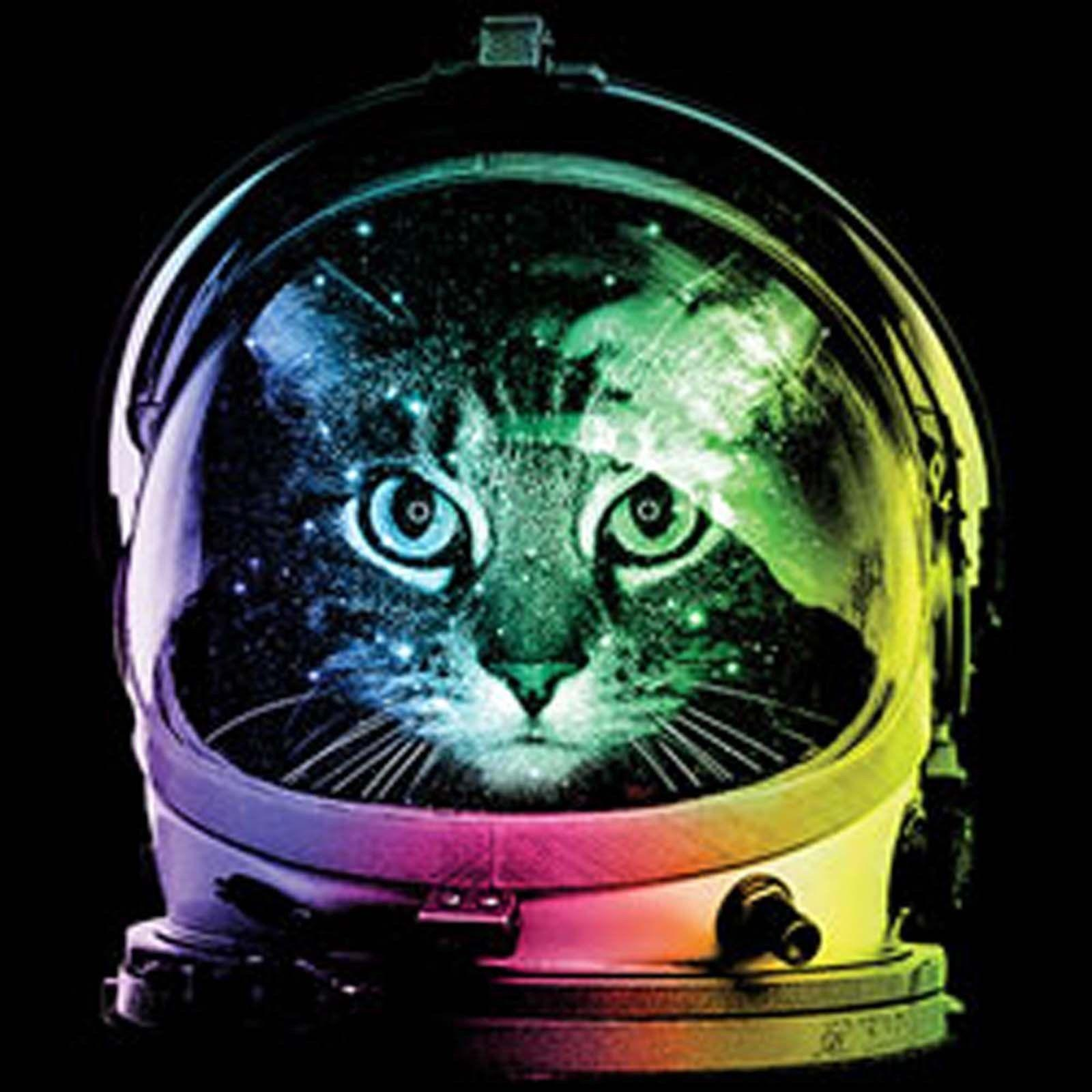 Space Cat T Shirt Neon Funny Kitten Astronaut Sm to 6XL Big Tall Short Sleeve Plus Size t-shirt harajuku Summer 2018 tshirt