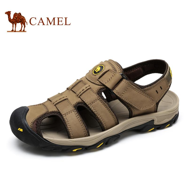 14ca93722a55 Camel Men S Leisure Sandals Camel New Cowhide Outdoor Sandals Rome Closed  Toe Wear Resistant Summer Male A622309237 Silver Sandals Gold Sandals From  ...