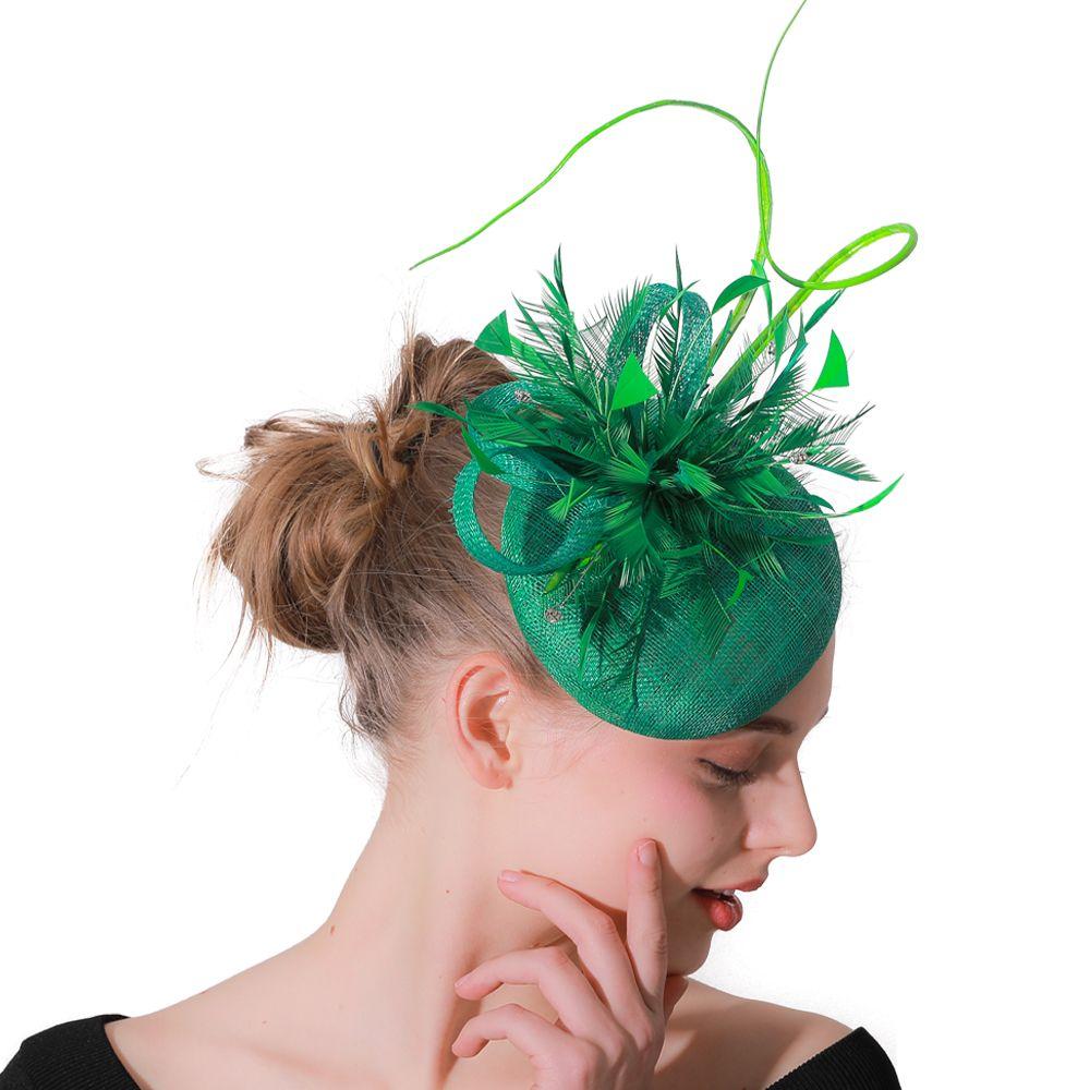 Green Sinamay Fashion Fascinators Hats Headbands For Women Wedding Headwear  Party Tea Ladies Elegant Headwear Hair Accessories UK 2019 From Dianearring 5103ffce6793