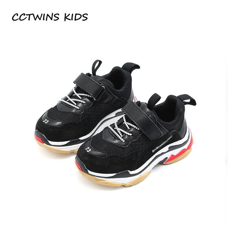 37fa4104238 Compre CCTWINS KIDS 2018 Primavera Niños Negro Zapato Casual Bebé Niña Moda  Deporte Zapatilla De Deporte Niño Pequeño Entrenador De Malla Blanco F2179  ...