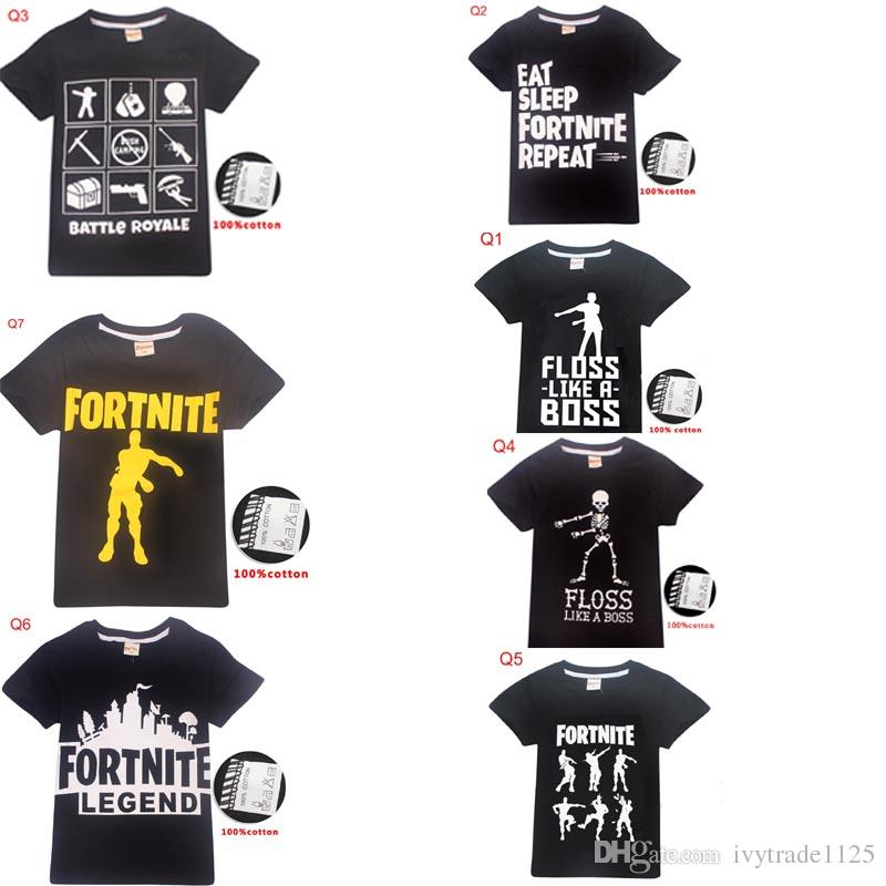 d85a50b0483a 2019 58 Styles Fortnite Kids Teenager Clothes T Shirt Boys Girl ...