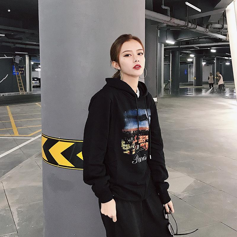 6de044d99fa 2019 Fall And Winter 2018 New Hong Kong Chao Brand Paris Hat Guard Clothes  Pure Cotton Loose Size Men And Women Stars Of The Same Style From  Wangtiantian123 ...