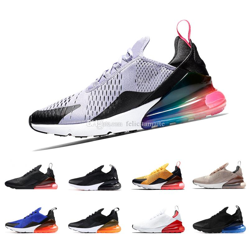 finest selection 1d58a 98e3e 270 running shoes for men women designer mens trainers triple black white  University Red tiger Hot Punch just do it mens sports sneakers