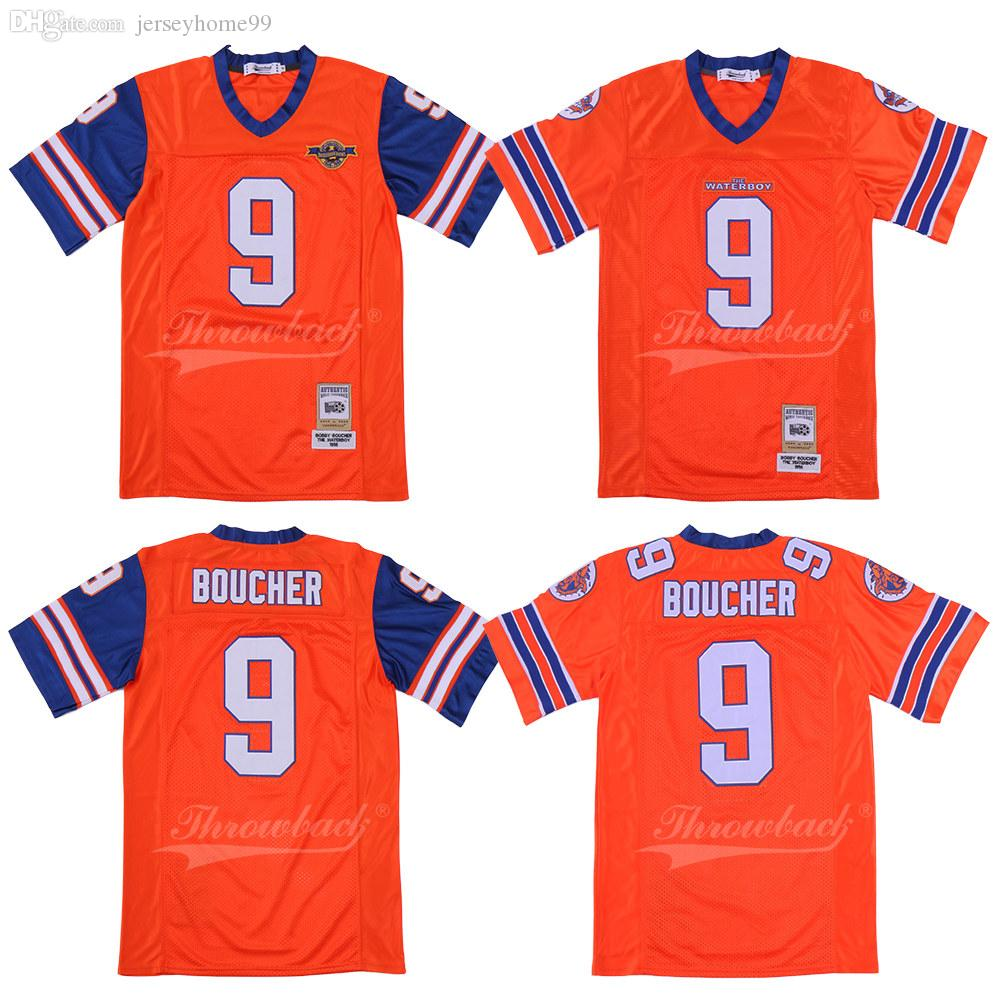 2019 Bobby Boucher 9 Adam Sandler Movie The Waterboy Mud Dogs Jersey With Bourbon  Bowl Patch Double Stiched Football Jerseys From Jerseyhome99 2387a8560