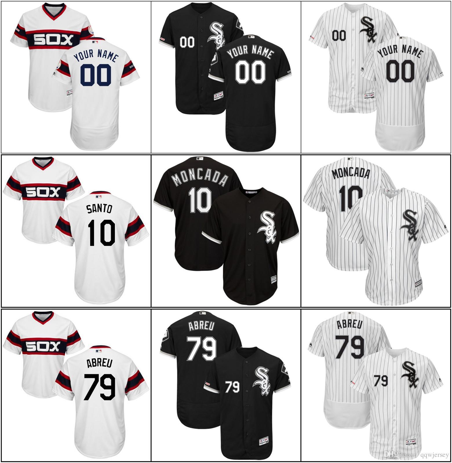 6f29a978f 2019 Men Chicago Cheap New White Sox Yoan #10 Moncada Jose #79 Abreu ...