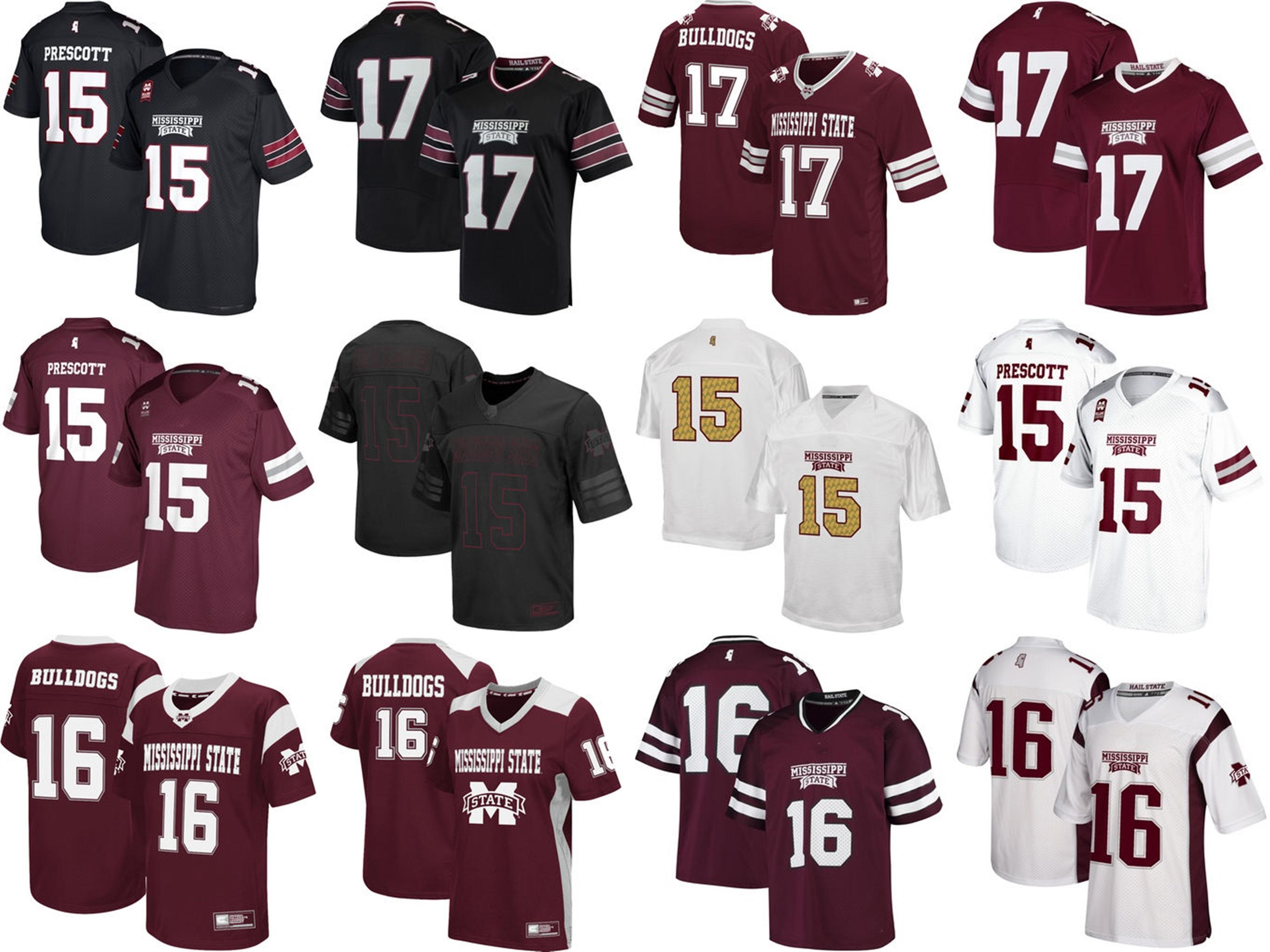 quality design 857fa 186a9 Mens Womens Kids NCAA Mississippi State Bulldogs Best quality Jersey 100%  stitched Custom Any Name Any No. College Football Jerseys