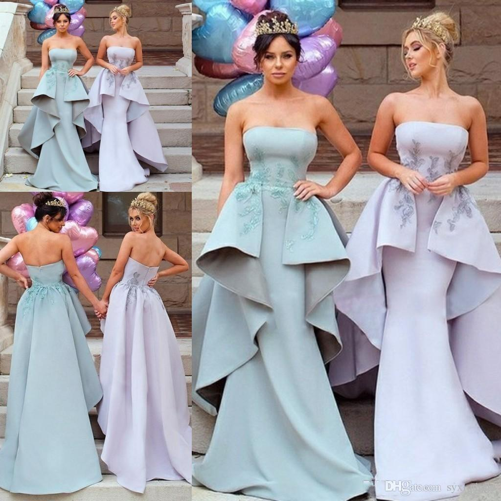 ef4a451a56 2019 South Africa Style Elegant Mermaid Bridesmaid Dresses With Train  Wedding Guest Evening Prom Gowns Special Occasion Dresses Dusky Pink  Bridesmaid ...