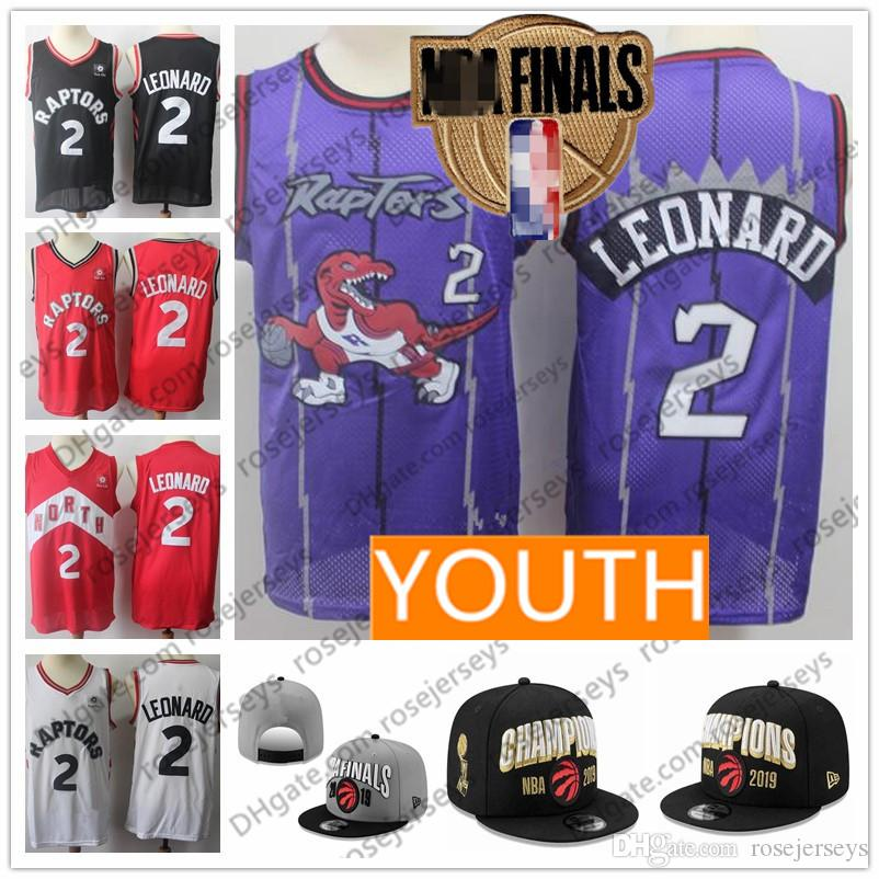 new styles d2cb3 cbc5a 2019 OVO Raptors Men Youth Kid #2 Leonard Jersey #7 Lowry Toronto Kyle  Kawhi Black North Champions Finals Championship Adjustable Hat Cap