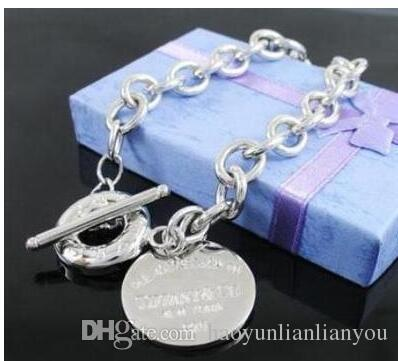 2019 new tiffany925 silver brand jewelry designer original box 925 sterling silver women's bracelet
