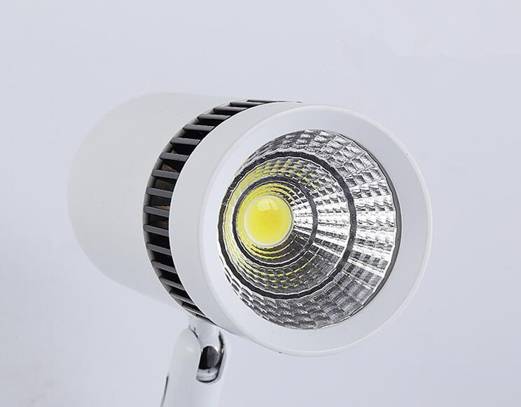 2 unids Regulable 3W 5W 7W 10W 15W 20W led COB Techo LEDlamp Ajustable Trenzado downlight Flexible Spot luz LED COB Riel luz