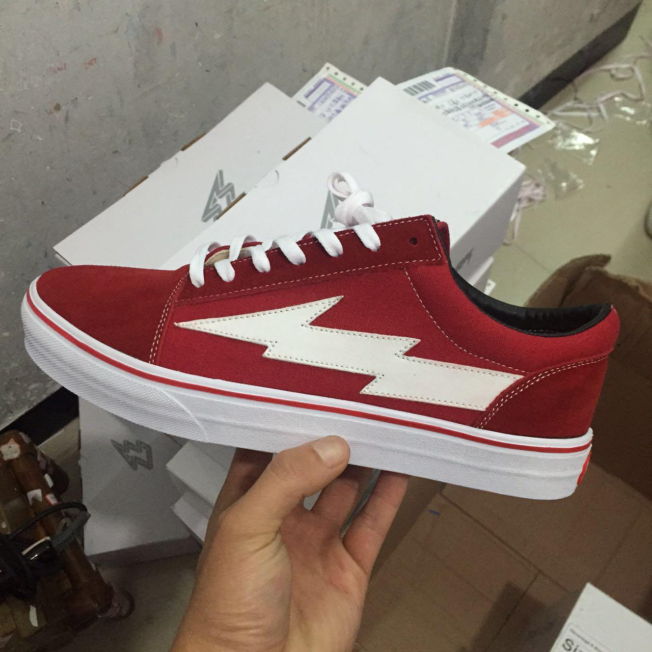 REVENGE x STORM NUOVO size36-45 New Unisex Low-Top High-Top Adult Men \\ 's Canvas Shoes 2 colori Stringato Casual Scarpe Sneaker scarpe red2019