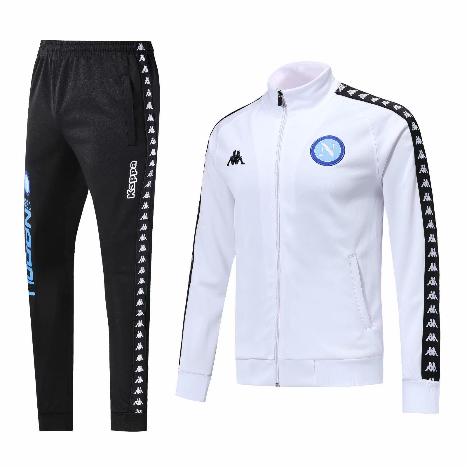 new styles 0e5fb ba2be SSC Napoli trackSuit Hamsik Insigne Callejon Zielinski 18/19 SSC Naples  white and black jacket set 2018 2019 Soccer veste suit
