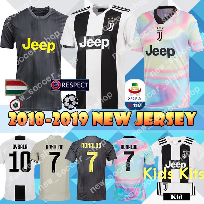 225edcea7ed 2019 JUVENTUS Soccer Jerseys 18 19 JUVE Home Away Top Sale 7 RONALDO DYBALA  HIGUAIN Mandzukic Men Women Kids Kits Football Shirt From New soccer shop