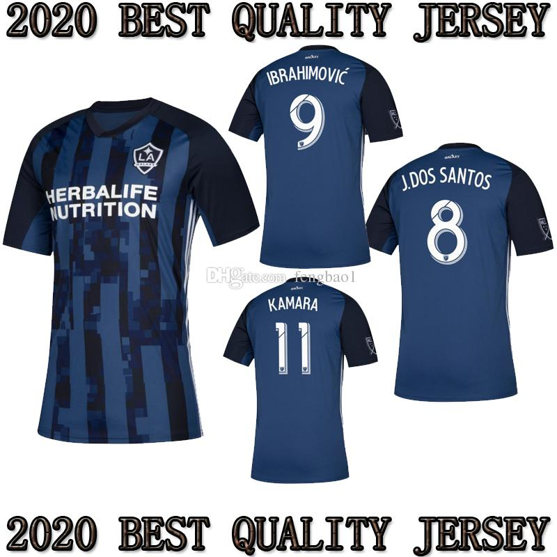 2019 TOP 2019 2020 MLS La Galaxy Zlatan IBRAHIMOVIC Soccer Jerseys 19 20  Los Angeles Galaxy Away Blue GIOVANI J.DOS SANTOS Football Shirts From  Fengbao1 f71aa61a5