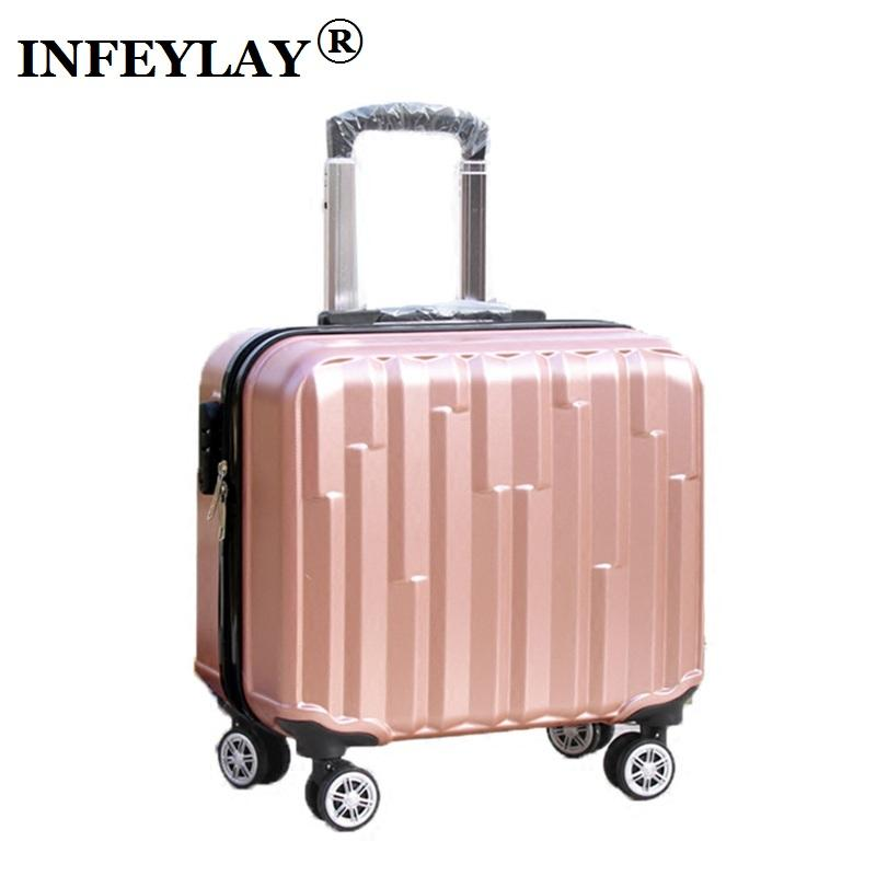 847e7bc6f1ef HOT 18 inches girl boy ABS Pull rod box students trolley case child Travel  luggage rolling suitcase women business Boarding box