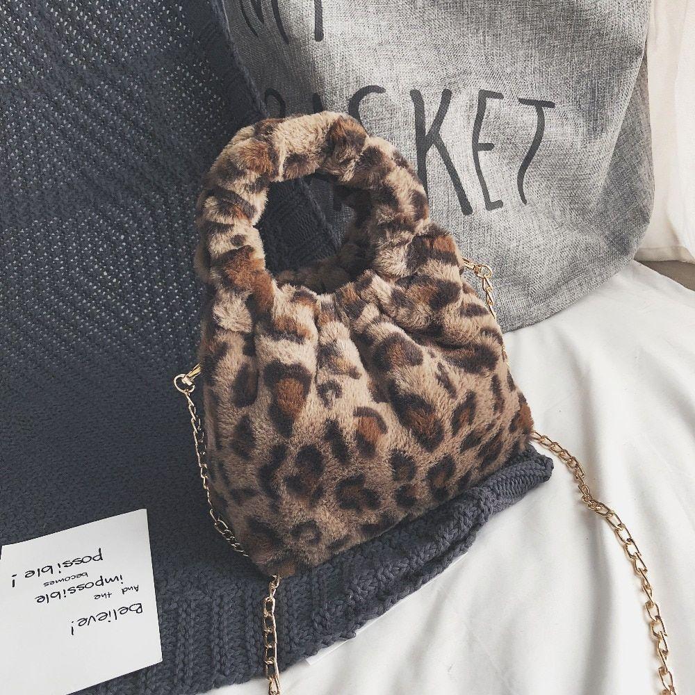 66132e603502 Mini Leopard Print Crossbody Bags For Women 2018 Handbags Messenger Bags  Shoulder Bag Lady Faux Fur Small Bucket Chain Bags Handbags Purses From  Naforan