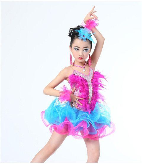 d68d911c6aa4 2019 Children Professional Latin Dance Dress For Girls Ballroom Dance  Competition Dresses Kids Modern Waltz/Tango / Cha Cha Costumes From  Qingxin13, ...