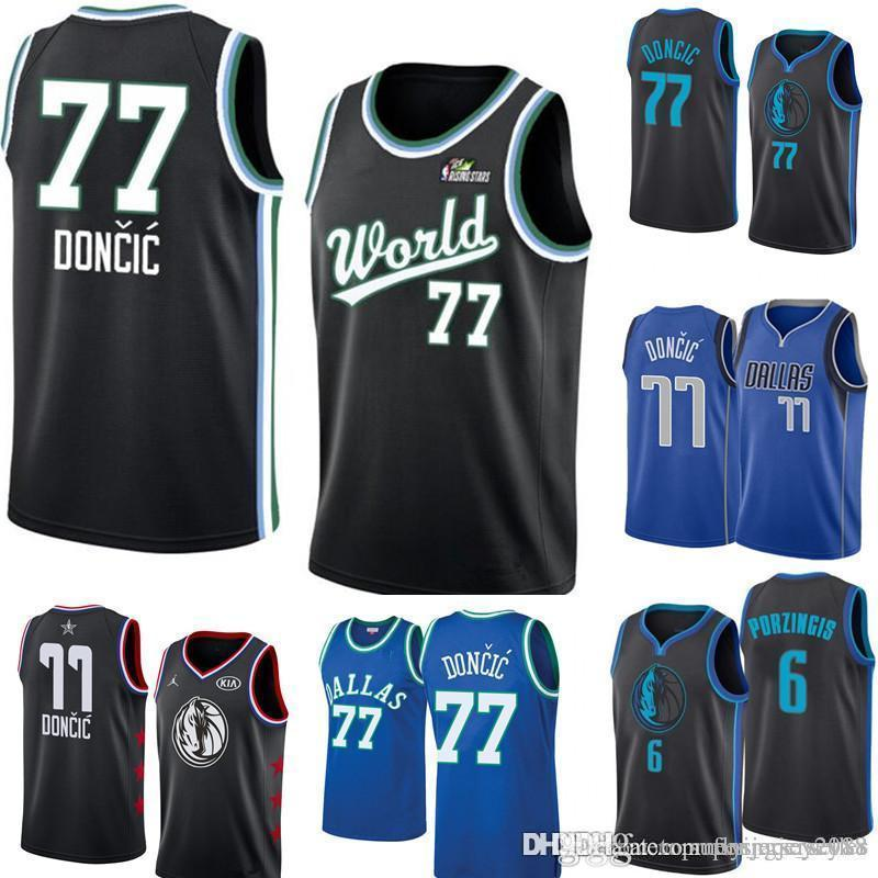 competitive price b2262 ea72c Luka 77 Doncic Dallas New Mavericks Jersey Mens Royal Swingman Jersey -  Icon Edition Embroidery Basketball Jerseys S-XXL