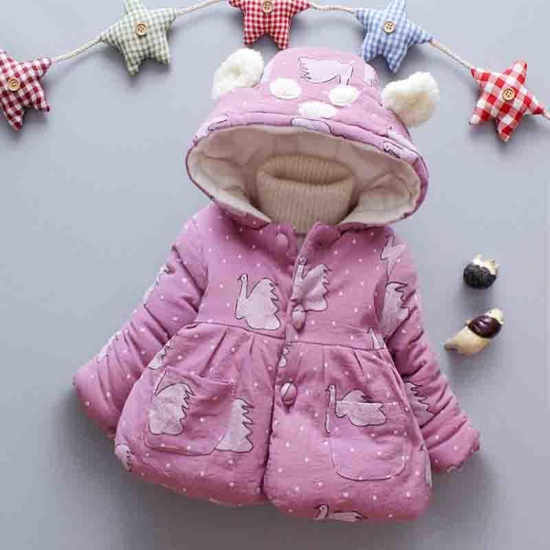 d9b352f3f813 Good Quality Winter Newborn Baby Girls Hooded Outerwear Clothes ...