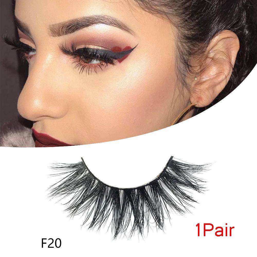 5d2ff58f748 3D Mink Hair False Eyelashes Natural Eyelash Handmade Wispy Cross Fluffy  Long Lashes Extension Eye Makeup Tools Reusable How To Apply False Lashes  Longer ...