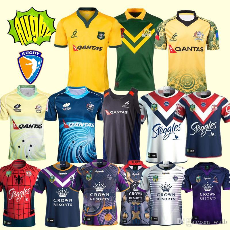 2019 2018 2019 World Cup AUSTRALIA WALLABIES JERSEY 18 19 Rugby Jerseys NRL  National Rugby League Shirt Australian Melbourne Storm Shirts S 3xl From  Wutb 871e94cf0
