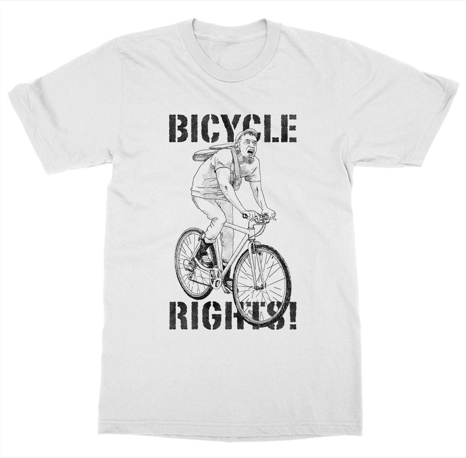 Bicycle Rights T-Shirt Bike Pedal Ride Cycling Spin Gear Wheel Saddle PortlandiaFunny free shipping Unisex Casual Tshirt