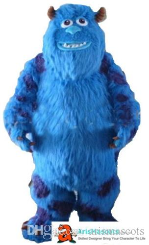 Adult Size Funny Sully Monster Mascot Costume Cartoon Mascot Costumes for Birthday Party Custom Mascots Deguisement Mascotte Arismascots