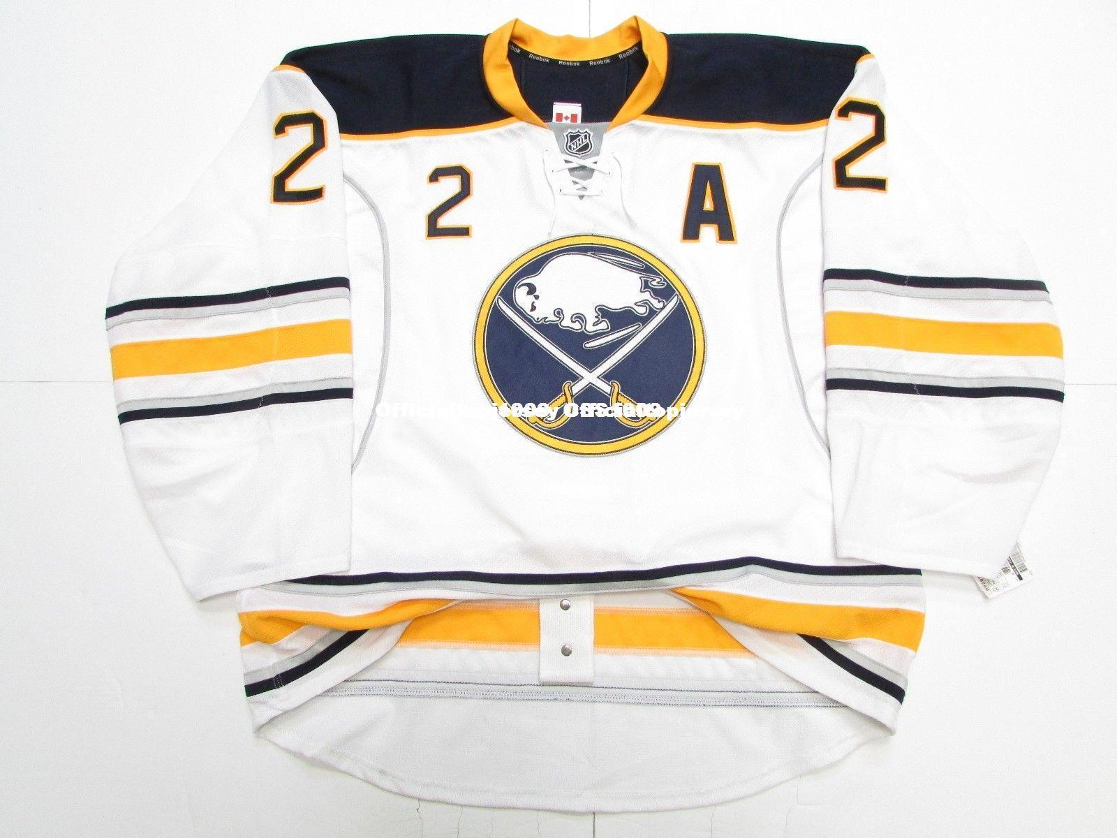 8b7e69b2c Cheap Custom TIM HORTON BUFFALO SABRES AWAY EDGE 2.0 7287 HOCKEY ...