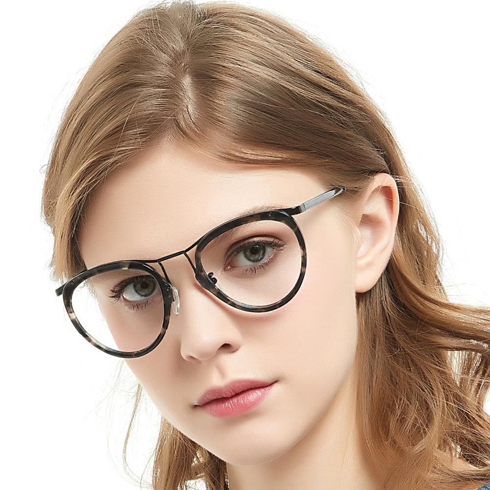 47779262d 2019 2017 Hot Anti Radiation Goggles Plain Glass Spectacles Fashion Women  Men Eyewear Nerd Clear Lens Semi Circle Frame GlassesOC7056 From  Marquesechriss, ...