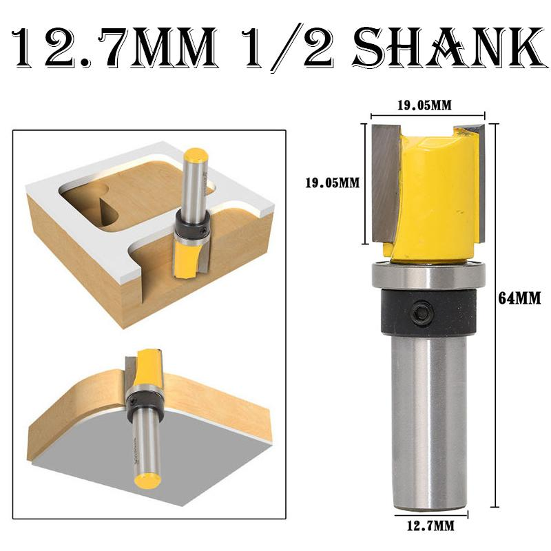 127mm Template Trim Hinge Mortising Router Bit 12 Shank Top Bottom