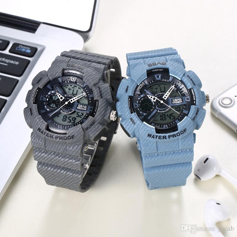 1862680b324f Compre 2019 Nueva Marca De Lujo Superior Reloj Deportivo Relojes Militares  Hombres Ejército Digital Writwatch LED 50m Impermeable Hombre Reloj Hombre  Reloj ...