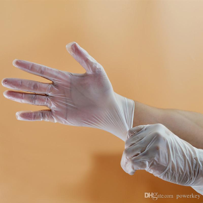 Guantes de Protección Ambiental de PVC desechables examen Polvo Salud Libre de pantalla transparente de la categoría alimenticia de la huella digital táctil trabajo Protectiv