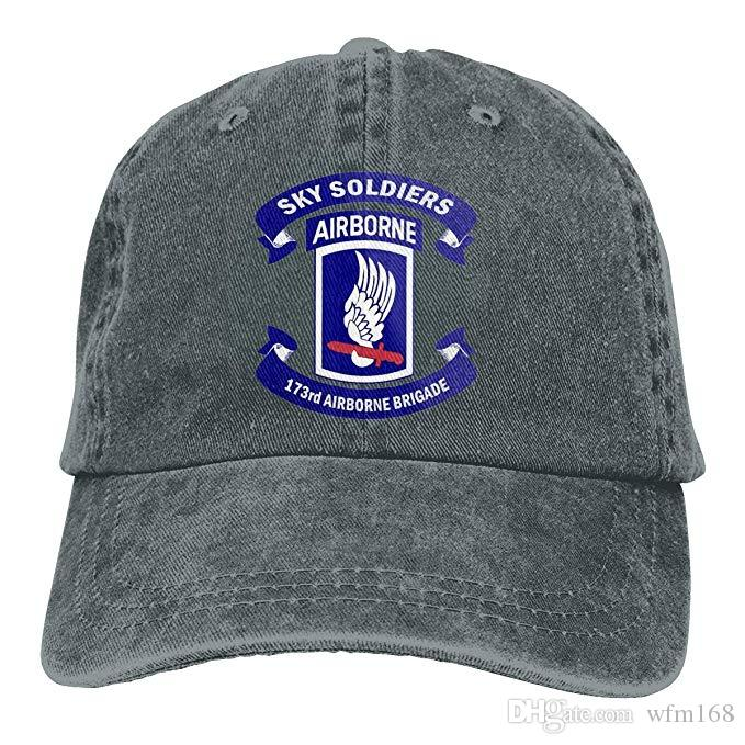a1ec2e88aed86 2019 New Designer Baseball Caps Army 173rd Airborne Brigade Logo Mens  Cotton Adjustable Washed Twill Baseball Cap Hat Hatland Brixton Hats From  Wfm168